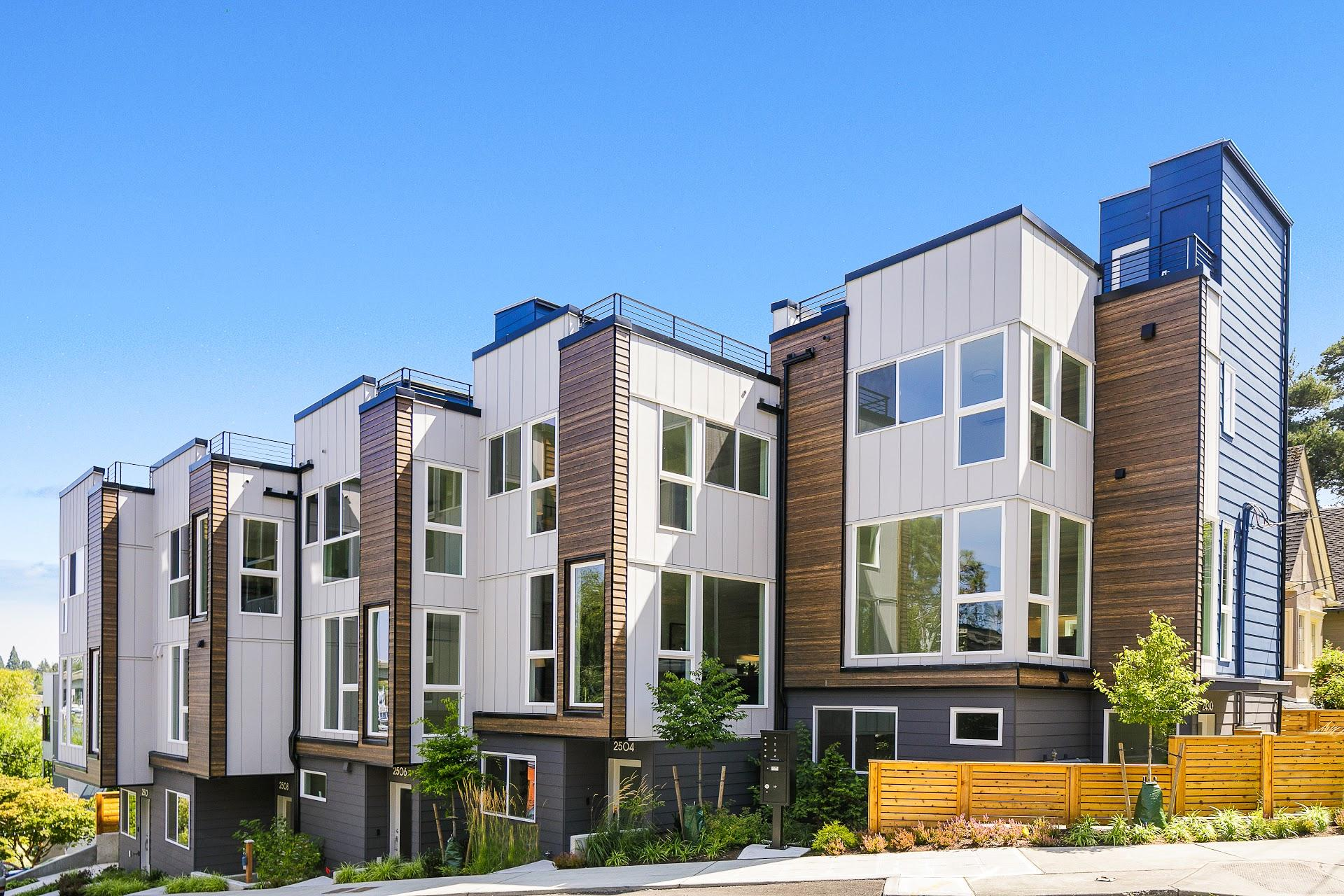 Exterior of the Baymont Townhomes in Montlake Seattle